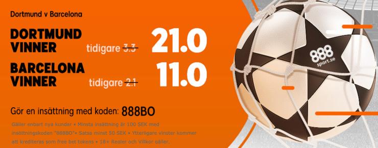 888 barca dortmund